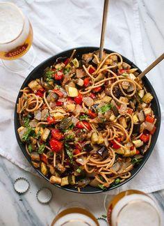 Roasted ratatouille pasta - cookieandkate.com