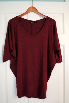 Dolmans are hit or miss with me, but the color is lovely and I think the vneck would help the shape
