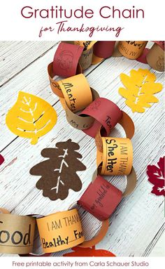 A Gratitude Chain is a printable Thanksgiving activity for families and friends to come together. Count blessings and watch the gratitude chain get longer. Thanksgiving Crafts For Kids, Thanksgiving Activities, Holiday Activities, Holiday Crafts, Holiday Fun, Fall Festival Activities, Time Activities, Kids Crafts, Classroom Crafts