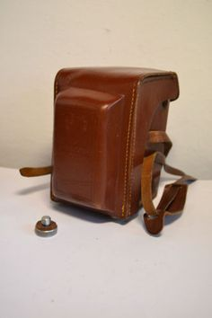 Vintage-rare-orig-Meopta-Flexaret-VI-leather-TLR-CLA-camera-case-in-good-condi