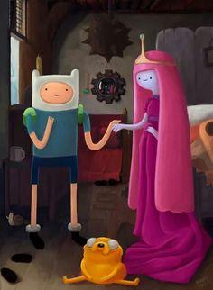 Adventure Time meets Van Eyck's Arnolfini matrimony