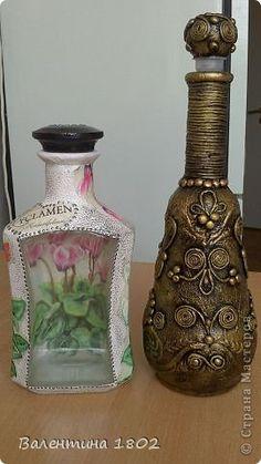 Декор предметов Декупаж заказик Бутылки стеклянные Пастель Салфетки фото 1