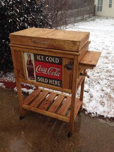 Custom built wooden cooler facebookccbedswings birmingham diy wooden cooler stand vintage look do it yourself home projects from ana white solutioingenieria Gallery