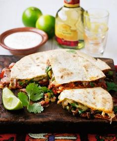 Beef mince is so versatile - just add spices and tomatoes to make these Mexican quesadillas in minutes.