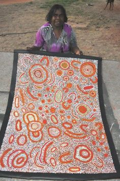 Nellie Marks Nakamarra / Women's Ceremony Aboriginal Art –