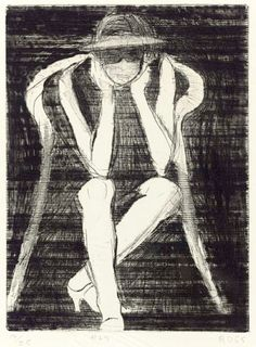 bofransson: RICHARD DIEBENKORN #26, from 41 Etchings Drypoints