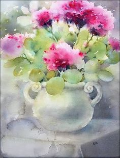 Watercolor by Maria Stezhko #watercolour #watercolour #flowers