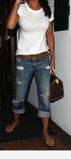 XiaoTianXinWomen XTX Women Classic Fit Stretch Slim Jeans Trousers Hole Denim Overalls