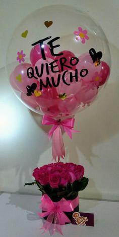 Valentines Bricolage, Valentines Diy, Candy Bouquet, Balloon Bouquet, Birthday Candy, Diy Birthday, Rosen Box, Valentine Gifts For Girlfriend, Boyfriend Gift Ideas