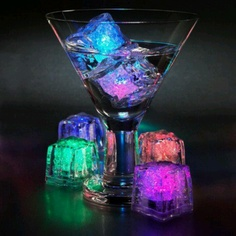 Light up ice cubes are a must--especially if we're going to serve glow-tinis!