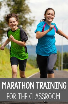 Incorporating marathons into the classroom is a great idea for class fitness or brain breaks! This could be done in intervals of 1 mile, etc. What a great way to make sure that students are getting physical activity each day! Fine Motor Activities For Kids, Sensory Activities, Therapy Activities, Infant Activities, Physical Activities, Physical Education, Sensory Play, Therapy Ideas, Physical Therapy Exercises
