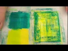 Brayer painting and stamping for background. (video has part 2 but I did not care for it)  ▶ Ellen Vargo: Art Journal BG (Part1) - YouTube