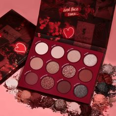 Colourpop All That Eyeshadow Palette. It is a beautiful palette just merely looking at it, it has matte, metallic, and pressed glitter finishes. Make Up Palette, Colour Pop, Colourpop Cosmetics, Makeup Cosmetics, Colourpop Eyeshadow Palette, Pink Eyeshadow, Bronze Eyeshadow, Glitter Eyeshadow Palette, Eyeshadows