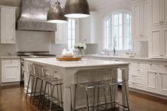 Zinc Kitchen Hood, Transitional, Kitchen, CR  Home Design-corner window and island orientation