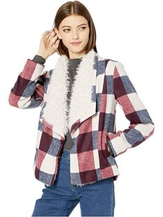 Shop Classic, Contemporary and Designer clothing, shoes and accessories at The Style Room (powered by Zappos)! Plaid Jacket, Plaid Scarf, Hey Gorgeous, Love Fashion, Fashion Trends, Trending Now, Faux Fur, Long Sleeve, Rebecca Minkoff