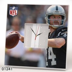 Oakland Raiders Team Wall CLOCK Mirror Frame NFL NFC AFC Collection Fan Gift #IKEA #OaklandRaiders