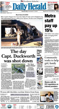 Daily Herald front page, Nov. 11, 2014; http://eedition.dailyherald.com/