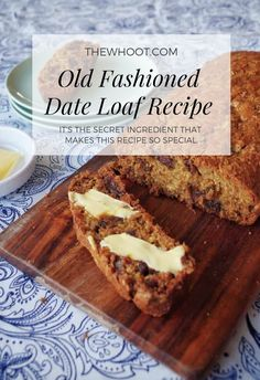This Quick Date Loaf Recipe has one secret ingredient that makes it extra good! Watch the one minute video tutorial and learn how to whip it up today! Date Recipes, Loaf Recipes, Gourmet Recipes, Sweet Recipes, Baking Recipes, Healthy Recipes, Date Loaf, Date Bread, Clementine Recipes