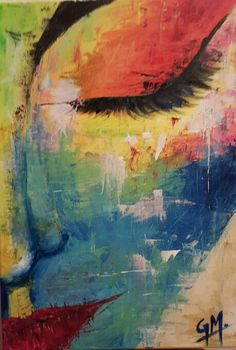 "Giorgia Madonno - artist. ""Colored beauty"" Acrylic painting."