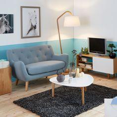 Table basse vintage scandinave blanche 80cm - Siwa - Tables basses-Tables basses, Bouts de canapé-Salon, Salle à manger-Par pièce - Décoration intérieur - Alinea
