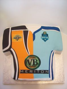 NRL Jersey Cake - rugby league - wests tigers / nsw blues