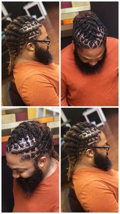 Loc style for men – Dreads – - Hair Styles Men Dread Styles, Mens Dreadlock Styles, Dreads Styles, Black Hairstyles For Round Faces, Dreadlock Hairstyles For Men, Men Hairstyles, Haircuts, Dread Braids, Braids For Short Hair