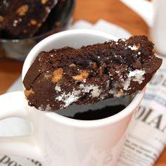 Chocolate Walnut Biscotti studded with roasted walnuts and chocolate ...