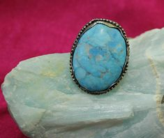 Check out this item in my Etsy shop https://www.etsy.com/listing/557818578/turquoise-silver-big-ringsilver