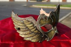 Winged Steampunk Mask by LunarThrill on Etsy, $120.00