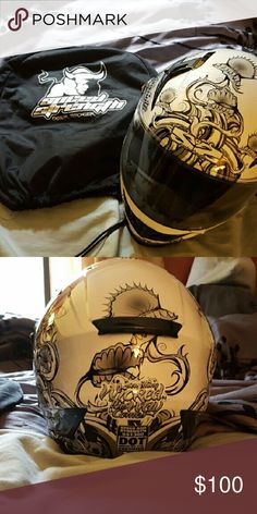 Speed strength motorcycle helmet Speed strength motorcycle helmet size small brand new bought it last year and never went riding paid $150 for it asking $100 Other