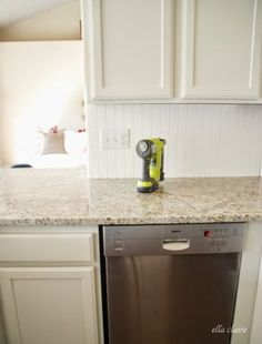 How we installed our Bead Board Backsplash Beadboard backsplash