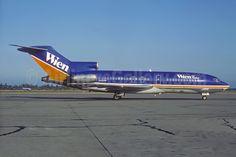Wien Air Alaska' beautiful dark blue and gold 1981 livery