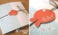 Pop Up Plouf Plouf - The Mischief Factory - wedding 2019 Baby Scrapbook, Scrapbook Cards, Kids Cards, Baby Cards, Baby Event, Nautical Cards, Handmade Birthday Cards, Mini Albums, Baby Shower