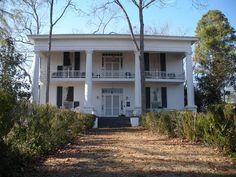 Noble Hall Plantation in Auburn in Lee County, Alabama. Built 1854