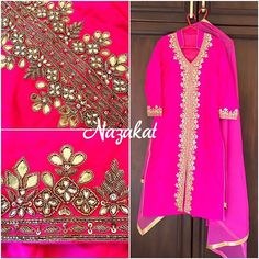 This beauty just doesnt need a filter  Gotta patti love  This piece is done with gotta patti, resham and zardozi detailing! What do you think of this one? Now this piece can be done in any colour or we can take inspiration from this and create something new for you! DM or whatsapp for details Shipping worldwide For more designs and updates follow us on facebook at: www.facebook.com/nazakatjal #peach #orange #pastel #gaajri #pearls  #royal #zardozi #bridetobe #punjabibride #sikhbride #gott...