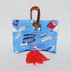 Blue Dog's Life Dog Poop Bag Dispenser Dog Poo by mylifeinfabric