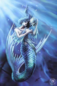 Winter Guardians 3D Bild mit Wölfen Anne Stokes Fantasy Leinwand Poster