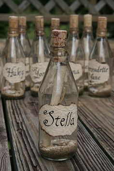message in a bottle invitations by daizelsmom, via Flickr