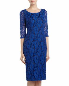 Lace Sheath Dress, Vivid Blue by Alexia Admor at Neiman Marcus Last Call.