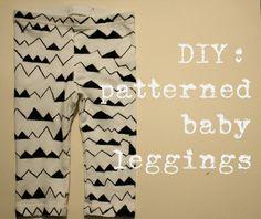 DIY: patterned baby leggings.