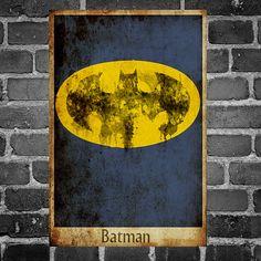 Batman justice league movie poster minimalist poster comic book print comic book art