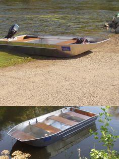 flat-bottomed boat - aluminium flat-bottomed boat