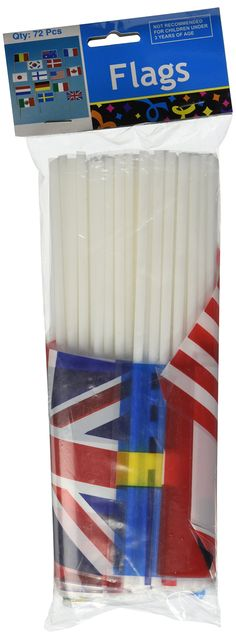 Flags Of All Nations - Party Decorations & Flags & Buntin g 72 count