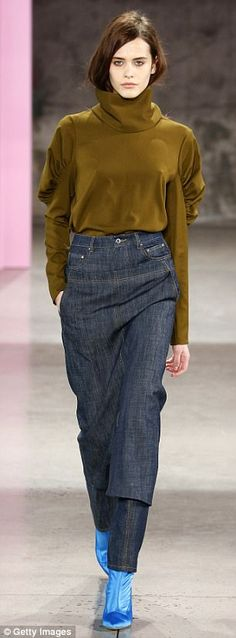 Shop fall's hottest denim trends as seen on Rihanna | Daily Mail Online