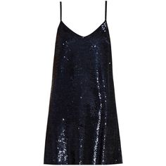 Ashish Sequin-embellished silk-georgette mini dress ($966) ❤ liked on Polyvore featuring dresses, vestidos, navy, mini dress, short dresses, blue sequin dress, navy dress and short sequin dress