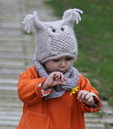 chouette - Free pattern for Owl Hat - toddler to adult Ravelry Baby Patterns, Knitting Patterns Free, Free Knitting, Crochet Patterns, Free Pattern, Knitting For Kids, Knitting Projects, Crochet Baby, Knit Crochet