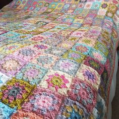 Vintage style granny blanket now completed and dispatched!