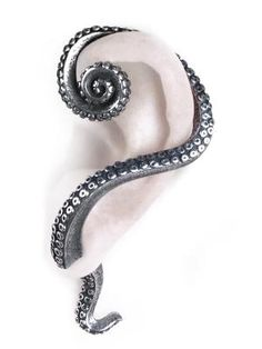 Angel Clothing Gothic, Steampunk and Fantasy Shop Alchemy Gothic - - Kraken Tentacle Earring Cuff Stud - : Gothic Clothing, Gothic Boots & Gothic Jewellery. New Rock Boots, goth clothing & goth jewellery. Goth boots and alternative clothing Ear Cuffs, Goth Jewelry, Jewelry Accessories, Gothic Jewellery, Gothic Earrings, Jewelry Rings, Trendy Accessories, Jewelry Box, Bullet Jewelry