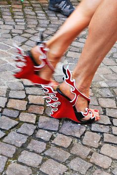 Prada flame heels, dont think I would ever wear these but kudos to those who do