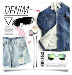 """""""Denim and Peach"""" by pear-drop ❤ liked on Polyvore featuring ssongbyssong, Chicnova Fashion, Chanel, Dolce&Gabbana and Denimondenim"""